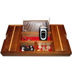 Christmas Gifts for Coworkers Under $100:Wood Dresser Valets For Men