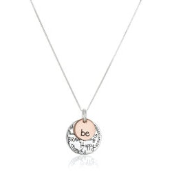 Unique Gifts for 17 Year Old:Be Graffiti Charm Necklace