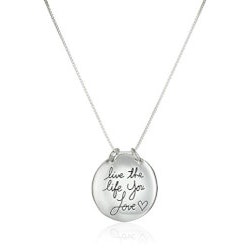 Jewelry Christmas Gifts for Teens:Live The Life You Love Necklace