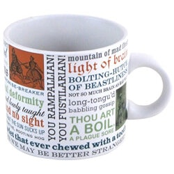 Unique Birthday Gifts for 16 Year Old  Teenage Girls:Shakespeare Insults Mug