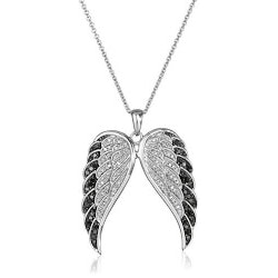 Diamond Angel Wings Pendant Necklace