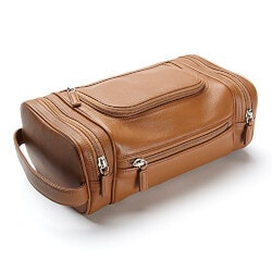 Travel Gifts:Leatherology Multi Pocket Toiletry Bag