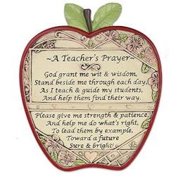 A Teachers Prayer Apple Plaque
