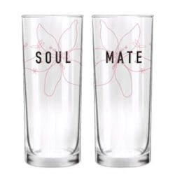 Soulmate His & Hers Drinking Glasses