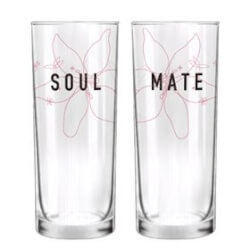 Wedding Gifts Under $50:Soulmate His & Hers Drinking Glasses