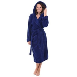 Gifts for Wife:Premium Bathrobe With Hood