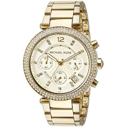 Jewelry Anniversary Gifts:Michael Kors Womens Parker Gold Watch
