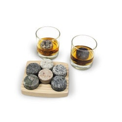 Unusual Birthday Gifts for Men:Granite Rock Chillers (Includes 2 Tumblers)