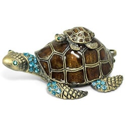 Jewelry Birthday Gifts for Sister (Under $50):Sea Turtle Jewelry Trinket Box