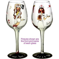 Gifts for Women Under $25:Handpainted Wine Glass