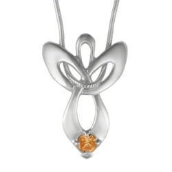 Christmas Gifts for Mom:Birthstone Guardian Angel Necklace