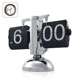Gadget Birthday Gifts for Husband:Retro Flip Down Clock (Gear Operated)