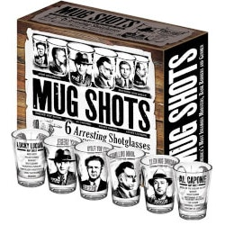 Gag Gifts:Mug Shots (Shot Glasses With Famous Gangsters)