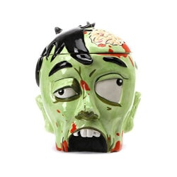 Funny Birthday Gifts for Boyfriend:Zombie Cookie Jar Head