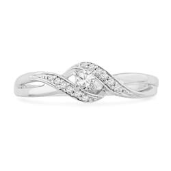 Anniversary Gifts Under $200:Diamond Twisted Promise Ring