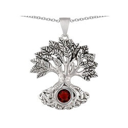 Gifts for GrandmotherUnder $100:Tree Of Life Good Luck Pendant