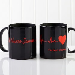 Heart Of Caring Personalized Coffee Mugs For..