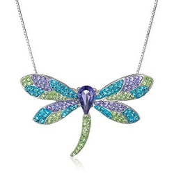 Jewelry Anniversary Gifts:Dragonfly Pendant Necklace