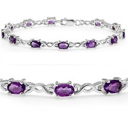 Christmas Gifts for Mom:Amethyst Infinity Tennis Bracelet