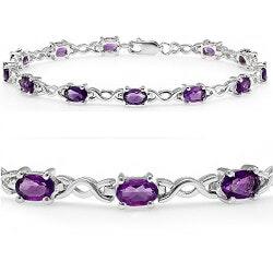 Jewelry Anniversary Gifts:Amethyst Infinity Tennis Bracelet