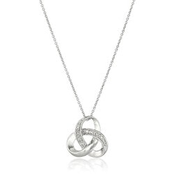 Anniversary Gifts Under $50:Diamond Knot Necklace