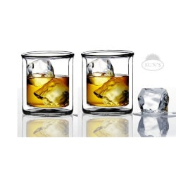Birthday Gifts Under $25:Double Wall Scotch/Whiskey Glasses