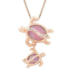 Gifts Under $100:Mom And Baby Turtle Necklace