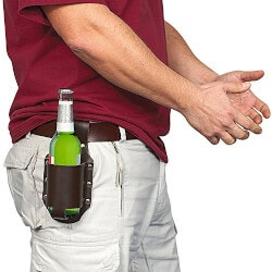 Funny Birthday Gifts for Boyfriend:Leather Classic Beer Holster
