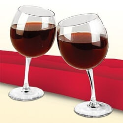 Funny Christmas Gifts for Women:Tipsy Wine Glasses