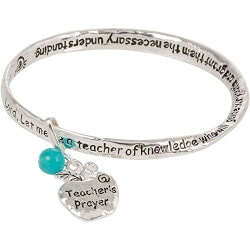Teacher Prayer Bangle Bracelet