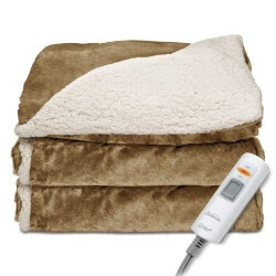 Christmas Gifts for Mom:Reversible Heated Throw