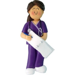 Female Nurse Christmas Ornament
