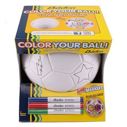 Birthday Gifts for 4 Year Old:Color Your Own Soccer Ball