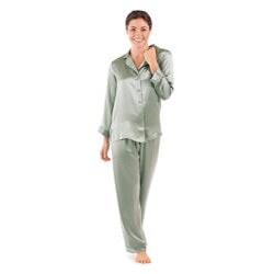 Anniversary Gifts:Womens Classic Luxury Silk Sleepwear