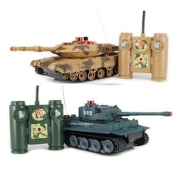 Unique Christmas Gifts for Kids:RC Battling Tanks