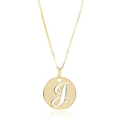 Personalized Jewelry Christmas Gifts for Women:14k Gold Initial Necklace