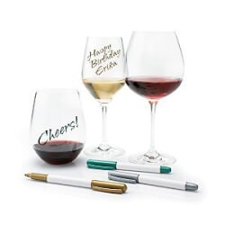 Funny Christmas Gifts for Women:Wine Glass Writer