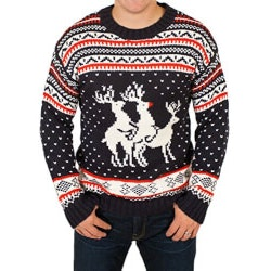 Gag Gifts:Naughty Reindeers Sweater