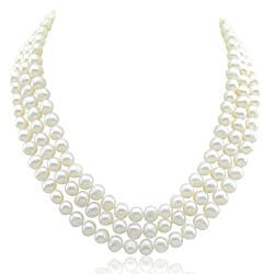 3-Row Pearl Necklace