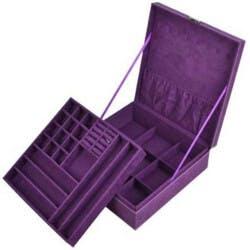 Two-Layer Jewelry Box Organizer