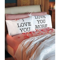 Romantic Valentines Day Gifts (Under $10):Love You & Love You More Pillowcases