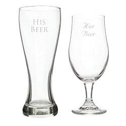 Funny Birthday Gifts:His Beer/Her Beer Pilsner Set
