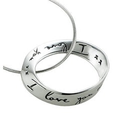 Jewelry Anniversary Gifts:I Love You Eternity Circle Of Love