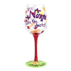 Gifts for Women Under $25:Hand Painted Wine Glass