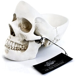 7th Anniversary Gifts for Boys:Skull Tidy
