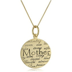 Jewelry Gifts:Mother Definition Necklace