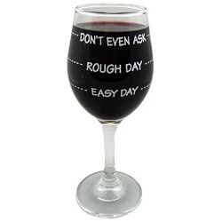 Funny Christmas Gifts for Women:Dont Even Ask Wine Glass