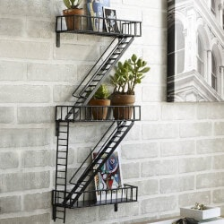 Gifts for Architects:Fire Escape Shelving