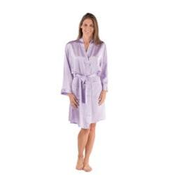 Gifts for GirlfriendUnder $200:Silk Robe Short Bathrobe