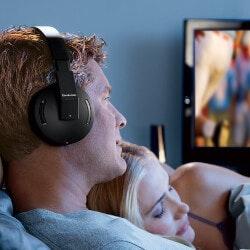 Wedding Gifts Under $50:Brookstone Wireless TV Headphones